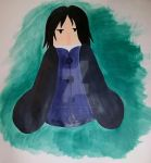 Chibi Snape painting by Yoitefriend