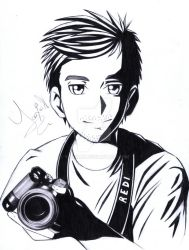 Drawing of a boy's profile picture. by Yaaxian
