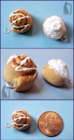 Polymer Clay Cinnamon Rolls update by Talty