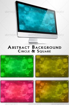 Circle and Square Abstract Backgrounds by feketeandreimihai