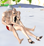 Dante x Trish Married on the beach by Sparda-Trish