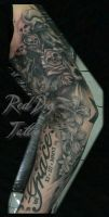 Wayne's Arm by Reddogtattoo