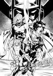 [COMM] Avengers from Earth 1212 (BnW) by Jefra