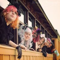 Lolitas on a Train by rensuchan