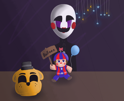 Plush Balloon Boy And Puppet by Superfluffy28