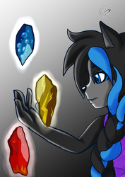Elemental stones by sheenathehedgehog