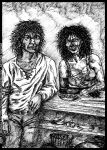 Midda and Be'Sihl: an unpublished art from Book II by middaschronicles