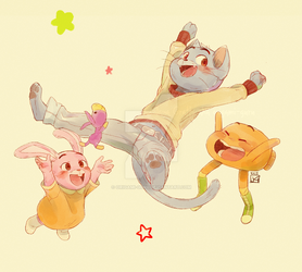 gumball and co. by origami-guru