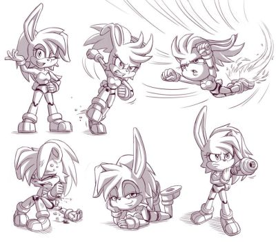 Bunnie D'Coolette sketches by glitcher