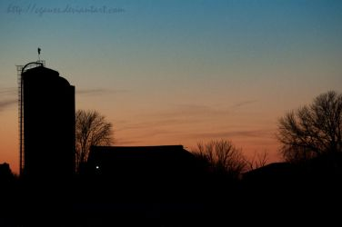 Silo at Sunset by cgauss