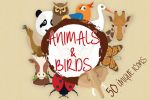 Animals and Birds Icons plus Illustrations by jumboicons