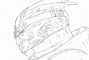 Garrus Head Side by Insomniatic-Ai