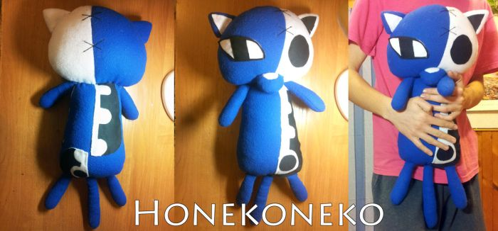 Honekoneko plushie from Panty and Stocking anime by Infera1