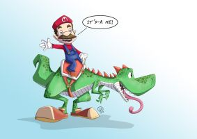 Mario and Yoshi by FelipeDS