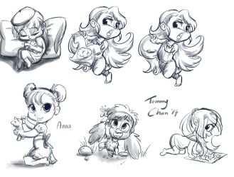 Toddler Anna and others by tommychan