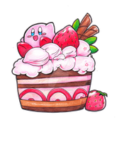 Kirby's Cake by PaperLillie