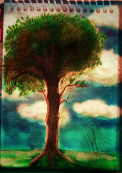 Tree sketch painting by AleTrevelin