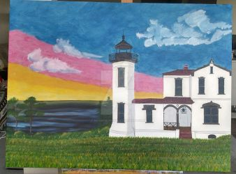 Admiralty Head Lighthouse, Fort Casey, WA by moonxbunneh