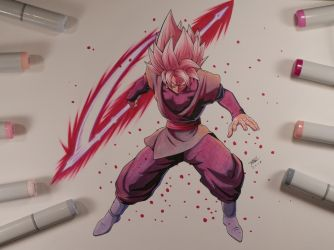 Goku Black Dragon Ball FighterZ by MahnsterArt
