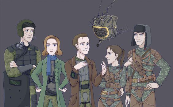 Commission: DnD team by AvenK