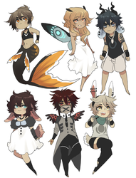 Adopts: Batch 4 by Silent-Koi
