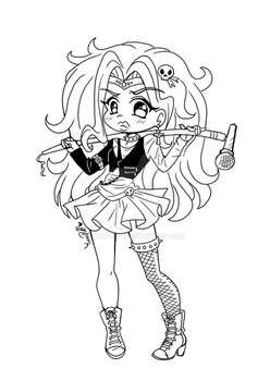 Sailor Glam Metal ::Lineart Prize:: by YamPuff