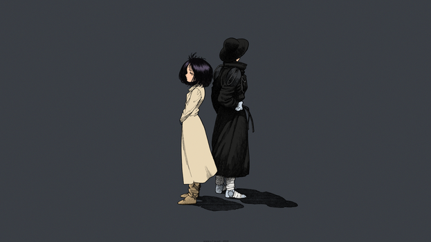 Gunnm (Battle Angel Alita) - Alita and Hugo by theBakamono