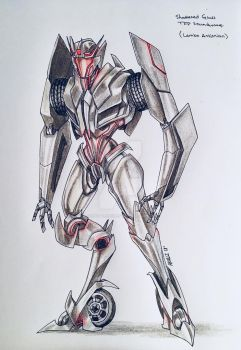 Request: Shattered glass TFP Soundwave by ForgottenHope547
