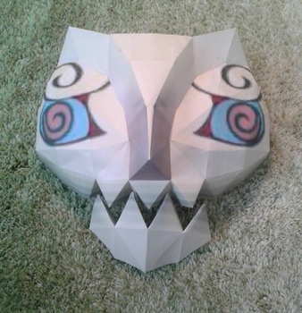 Mask of Jalhalla papercraft by minidelirium