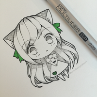 Neko Chibi by strawberrycake