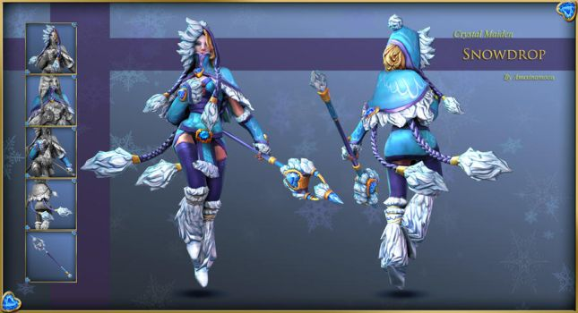 Dota 2 - Crystal Maiden - Snowdrop : Final by Anuxinamoon