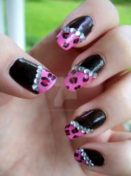 Pink Leopard and Glitter by ViiviASD