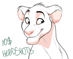 Taking quick tlk headshot commissions/CLOSED by llEeckranistll
