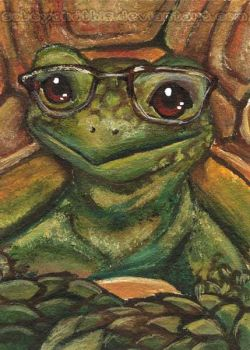 Nerdy But Cute Tortoise by sobeyondthis