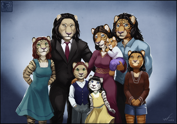 Panthera Family Portrait by ashkey
