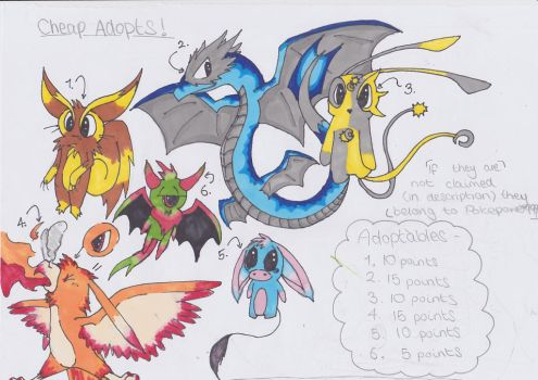 Cheap Adopts - OPEN! by Pokepower999