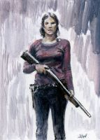 Maggie The Walking Dead Sketch Card by Stungeon