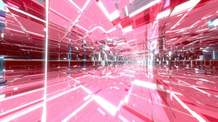 Pink Glass Tunnels by Dr-Pen