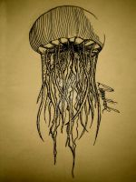 Jellyfish Inktober #4 by HarryKenobi