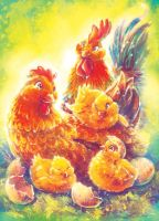 Chicken Family vs1 by Fany001