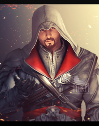 Ezio Auditore Da Firenze (Brotherhood) by Verahnika