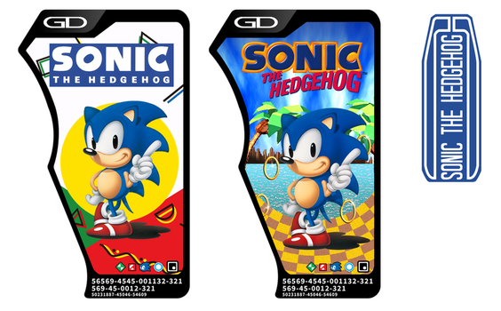 Sonic The Hedgehog Gashat Labels by fangs-echidna
