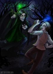 Comission- Lupin vs Snape by Bilious