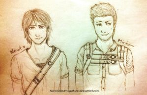 Newt and Minho .:. The Maze Runner by NoramiNoAmagakure