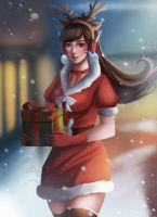 ~Christmas D.va ~ by rei-kaa