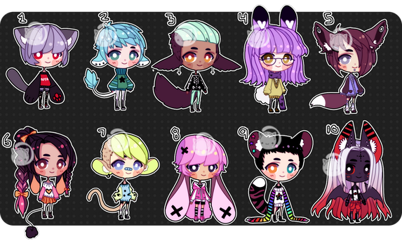 $5 adopts (closed) by Kariosa-Adopts