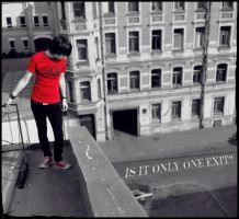 Exit?. by Bunnis