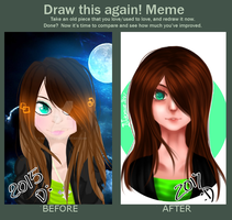 [Draw this Again 2] .:2015 vs 2017:. by Naomie3147