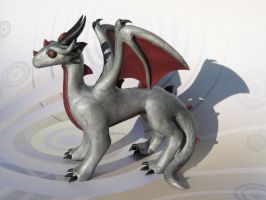 Silver Standing Dragon by KuddlyKreatures