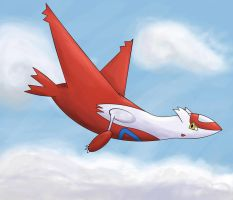 Latias Flyin' by Resistance-Of-Faith